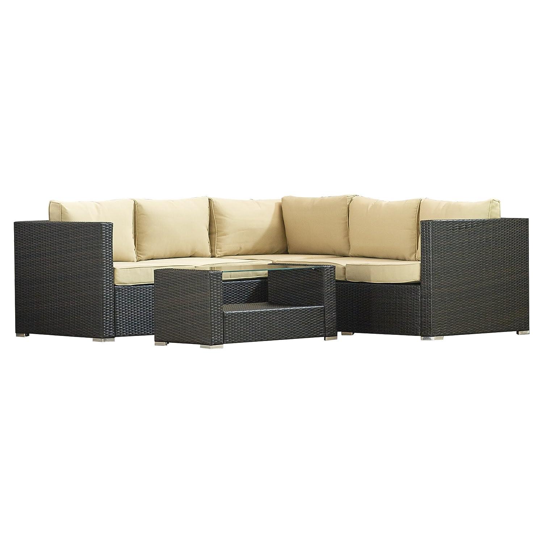 Amazon Brayden Studio Keesler 4 Piece Sectional Seating Group
