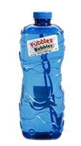 Little Kids Fubbles Premium Long Lasting Bubble Solution, Assorted Colors, 64 oz