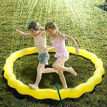 Niños jardín espolvorear Splash Juego Juguete Agua pulverizada bebé Piscina Pad Verano Playa de la diversión al Aire Libre Juguete para los niños: Amazon.es: Deportes y aire libre