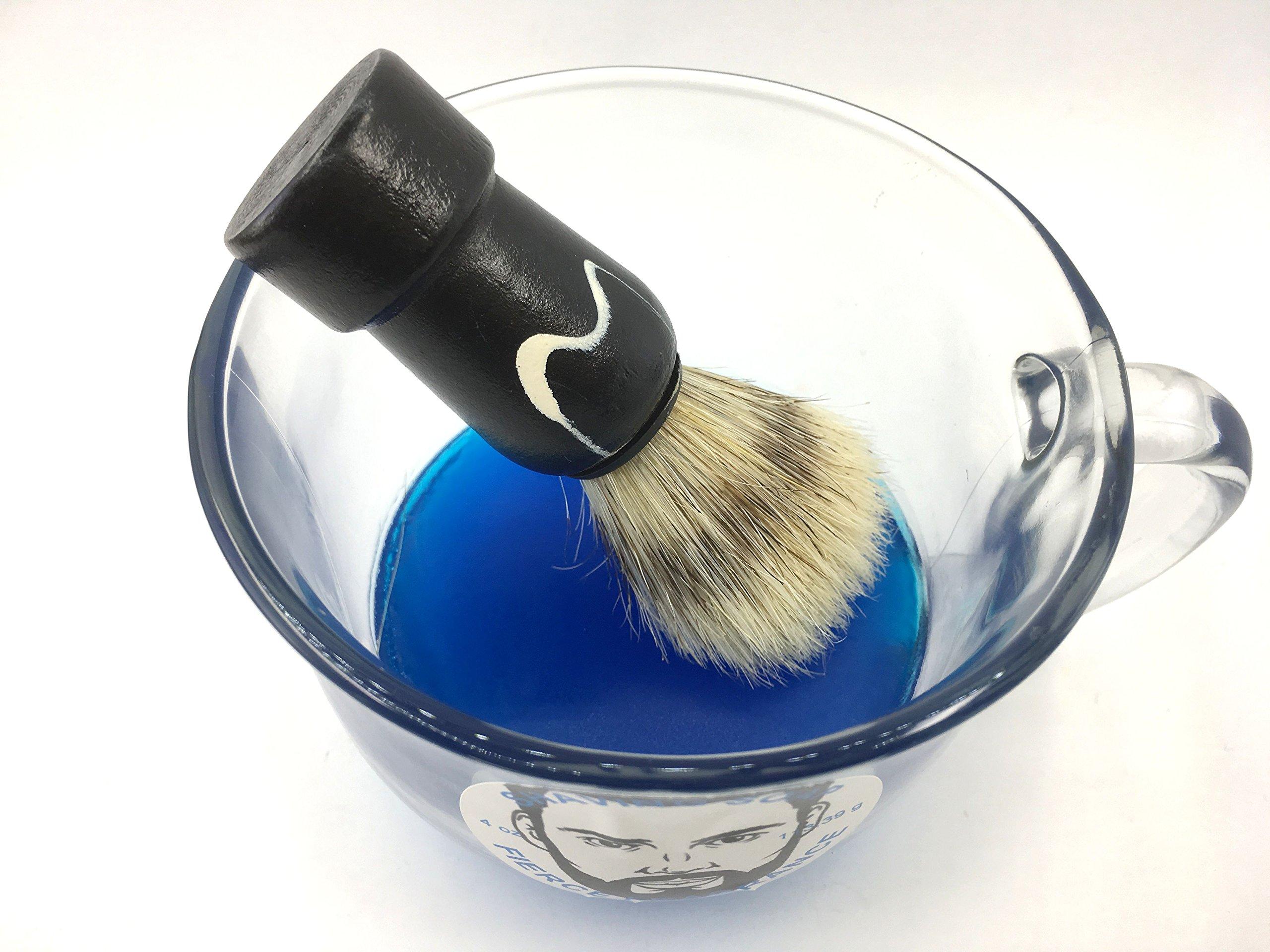 Shaving soap and brush set 4 oz Fierce Type fragrance