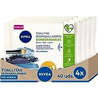 NIVEA Verfrissende make-up doekjes in verpakking van 4 (4 x 40 stuks), make-up remover doekjes voor normale en gemengde…