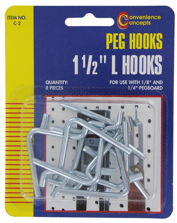 Convenience Concepts SC 2 Pegboard ''L'' Hooks