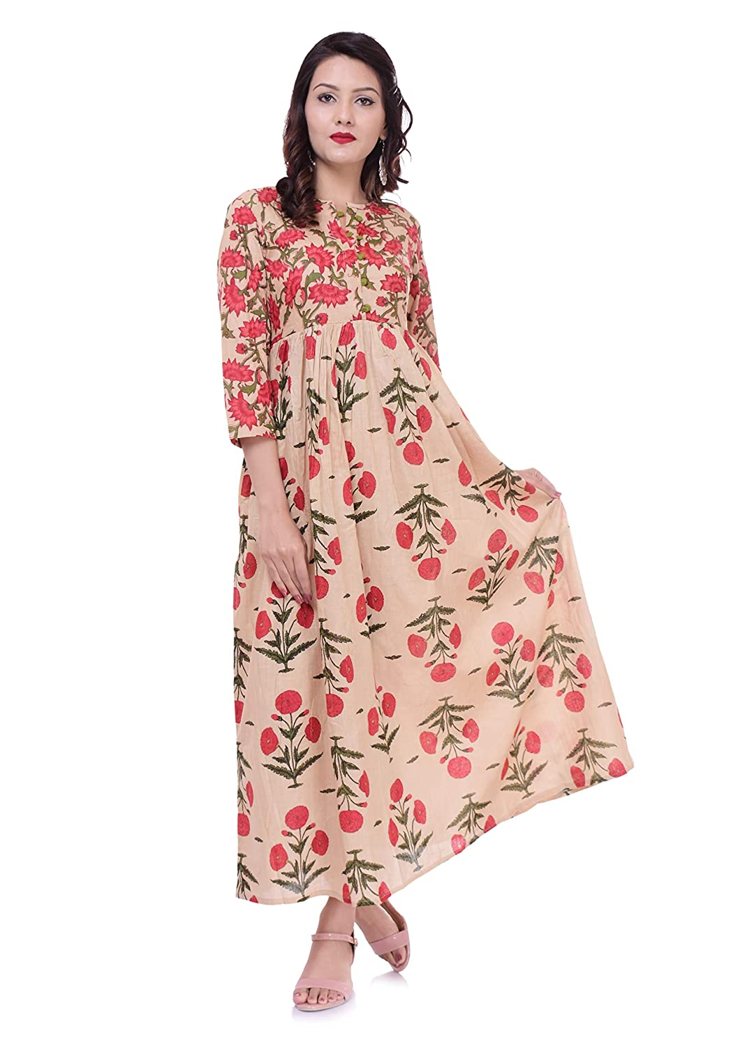 eafb8f6ef8fab STREE Cotton Ethnic Top Designer Floral Printed Flared Kurti: Amazon.in:  Clothing & Accessories