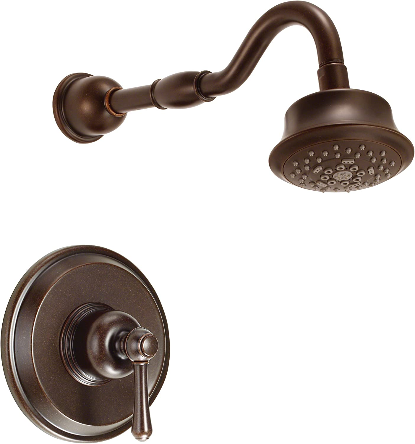 Danze D502857BRT Opulence Single Handle Shower Trim Kit with 5-Function Showehead, Tumbled Bronze
