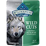 Blue Buffalo Wilderness Trail Toppers Wild Cuts High Protein, Natural Wet Dog Food, Chunky Bites in Hearty Gravy, 3-oz Pouche