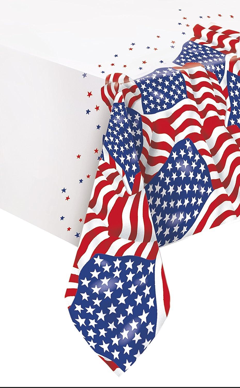 Amazon Com Us American Flag Plastic Tablecloth 84 X 54 Kitchen Dining