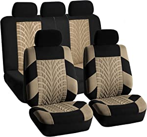 FH Group FB071BEIGE115 Car Seat Cover (Travel Master Airbag and Split Bench Compatible Beige)