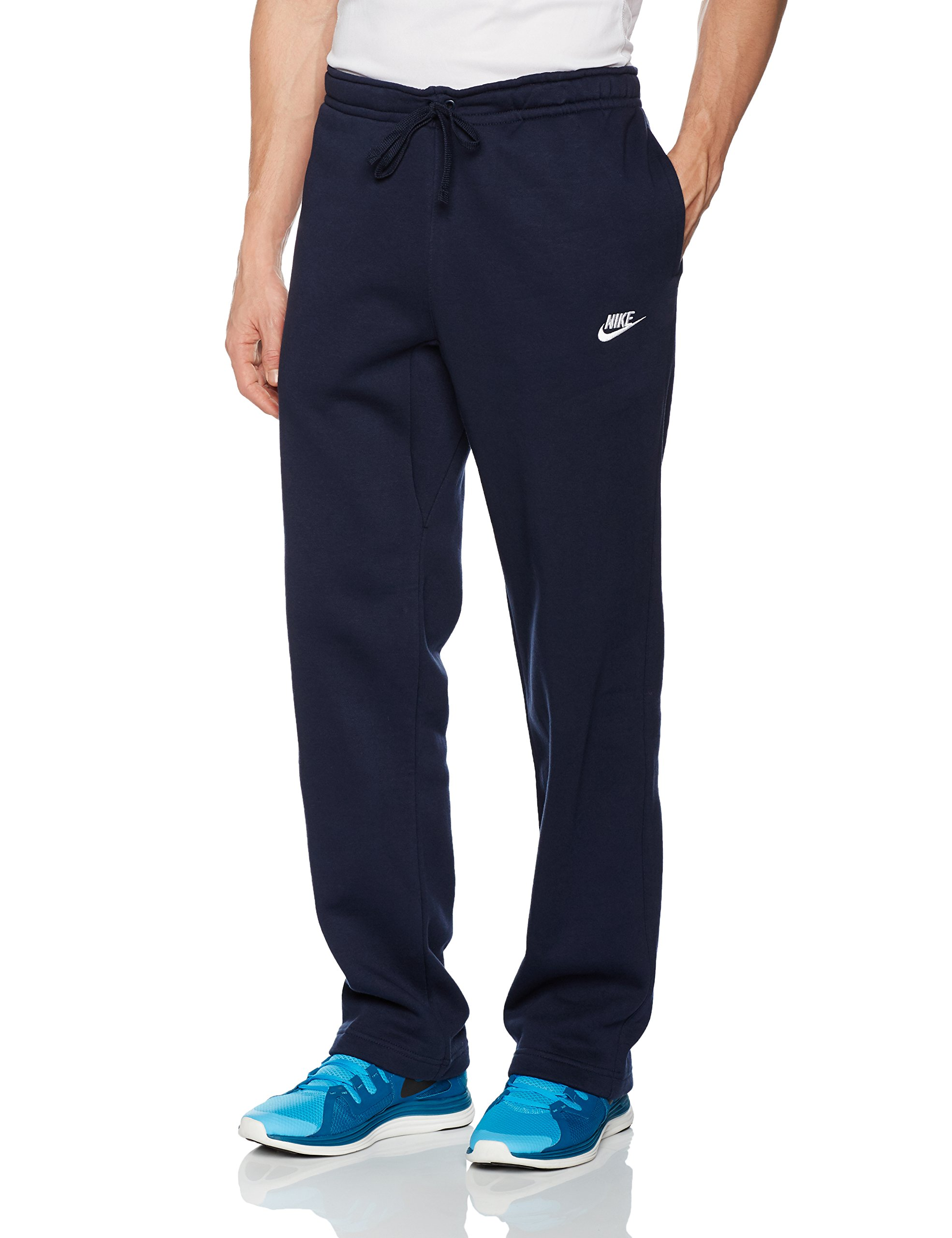 Men's Nike Sportswear Club Sweatpant, Fleece Sweatpants for Men with Pockets, Obsidian/White, M by Nike (Image #1)