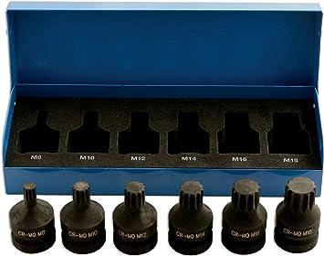 Laser 4939 - Juego de Llaves de Vaso con Punta XZN para ...