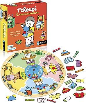 Nathan La Roue Des Couleurs T Choupi Jeu Pour Enfant Educatif Et Cooperatif Des 3 Ans De 2 A 4 Joueurs Amazon Fr Jeux Et Jouets