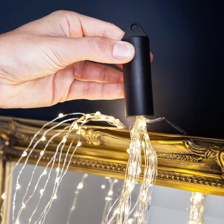 160er Micro LED Lichtbündel Lichterkette warmweiß auf Draht ...