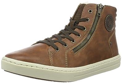 Mens 30921 Hi-Top Sneakers, Nuss/Moro/Cigar, 8 UK Rieker