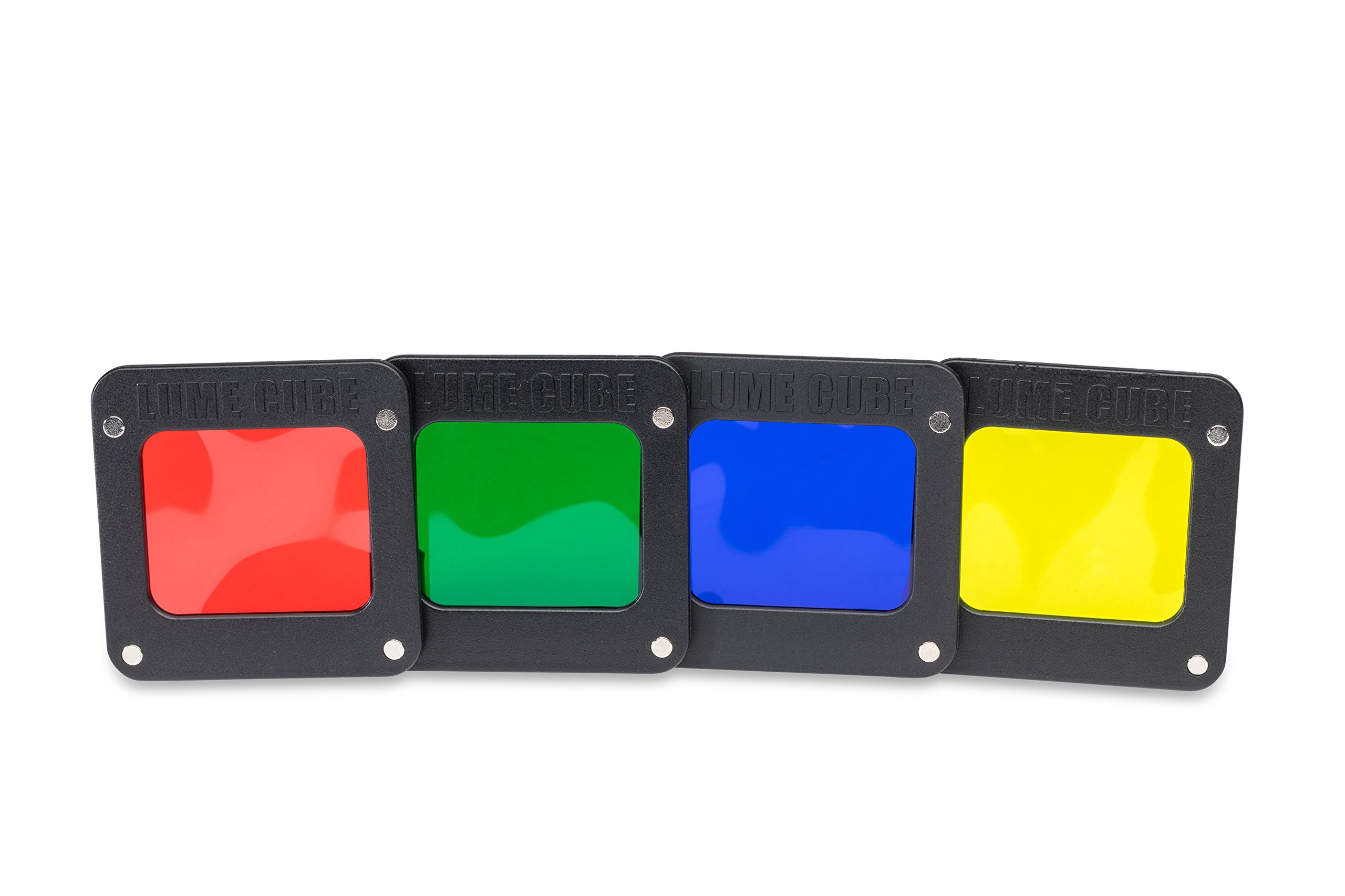 Lume Cube - RBGY Color Gels for Light-House (includes one Red, Blue, Green and Yellow Magnetic Gel) by LUME CUBE