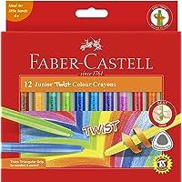 Faber-Castell crayons Faber-Castell Junior Triangular Twist Crayon Asstd 12 Pack, (21-010036)