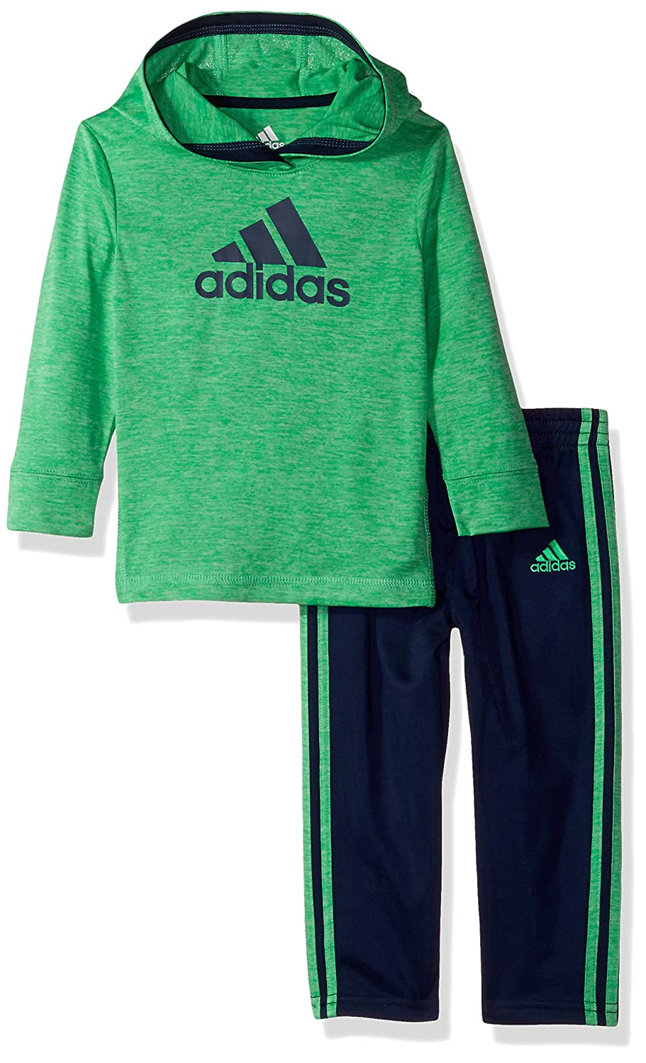 aac8fae2aad The coast to coast hoodie set has a pullover hooded melange top with  contrast Adidas brand mark at chest and contrast cover ...