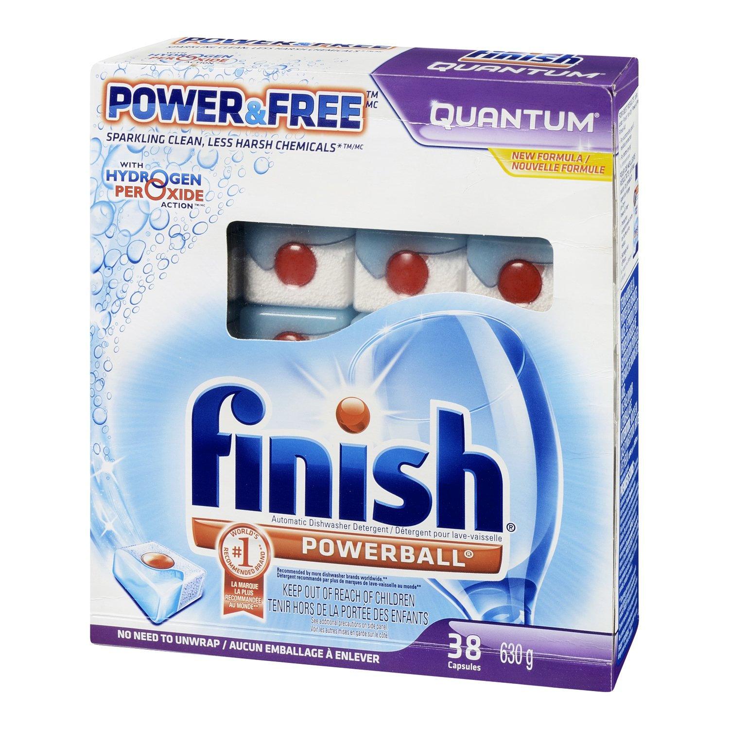 Finish Quantum Dishwasher Detergent, Power and Free, 38 Count by Finish (Image #2)