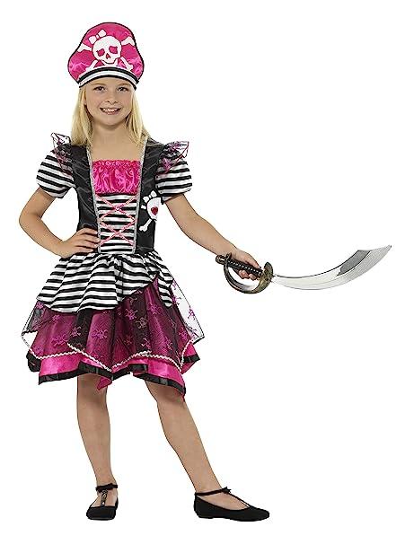 Smiffys Smiffys-21981L Disfraz Pirata para Chica, con Vestido y Sombrero Color Negro y Rosa L - Edad 10-12 años 21981L: Amazon.es: Juguetes y juegos