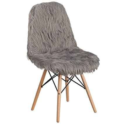 Flash Furniture Shaggy Dog Charcoal Gray Accent Chair