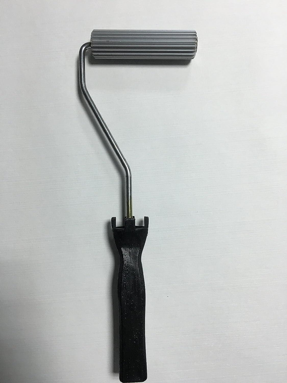 20 x 100 mm Fiberglass Laminating roller Bubble rullo per resina manico nero laminazione Paddle rullo per composito LOCKFIXINC