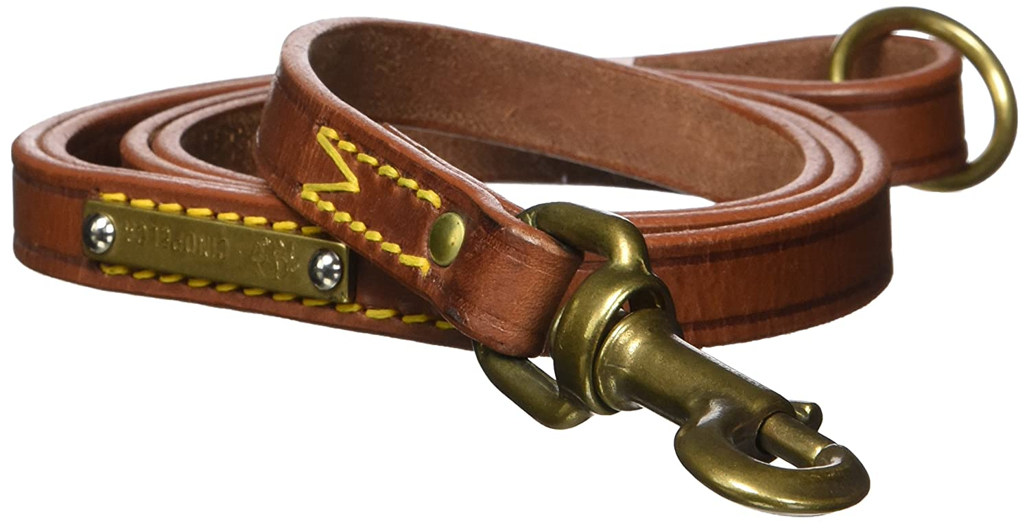 3 5-Inch by 47 1 4-Inch Petego La Cinopelca Classic Leather Leading Leash, 3 5-Inch by 47 1 4-Inch, Brown