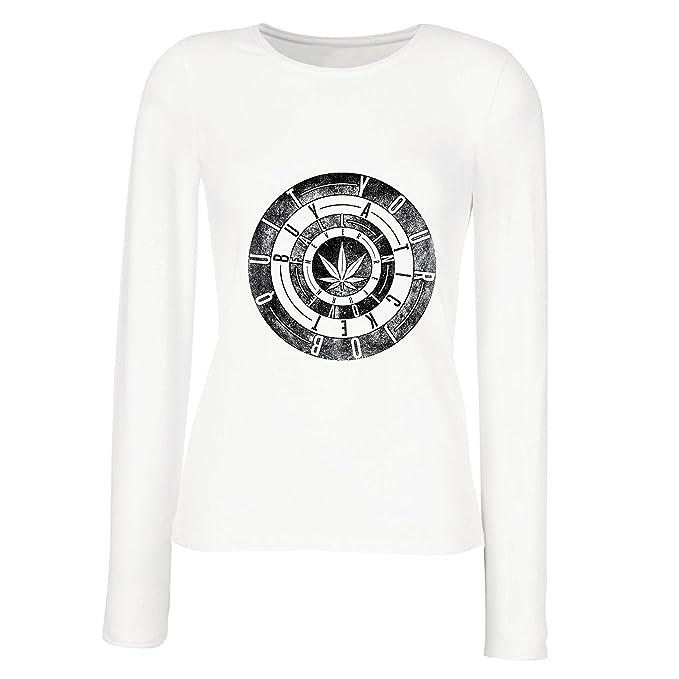 lepni.me Camisetas de Manga Larga para Mujer Salga de su: Amazon.es: Ropa y accesorios