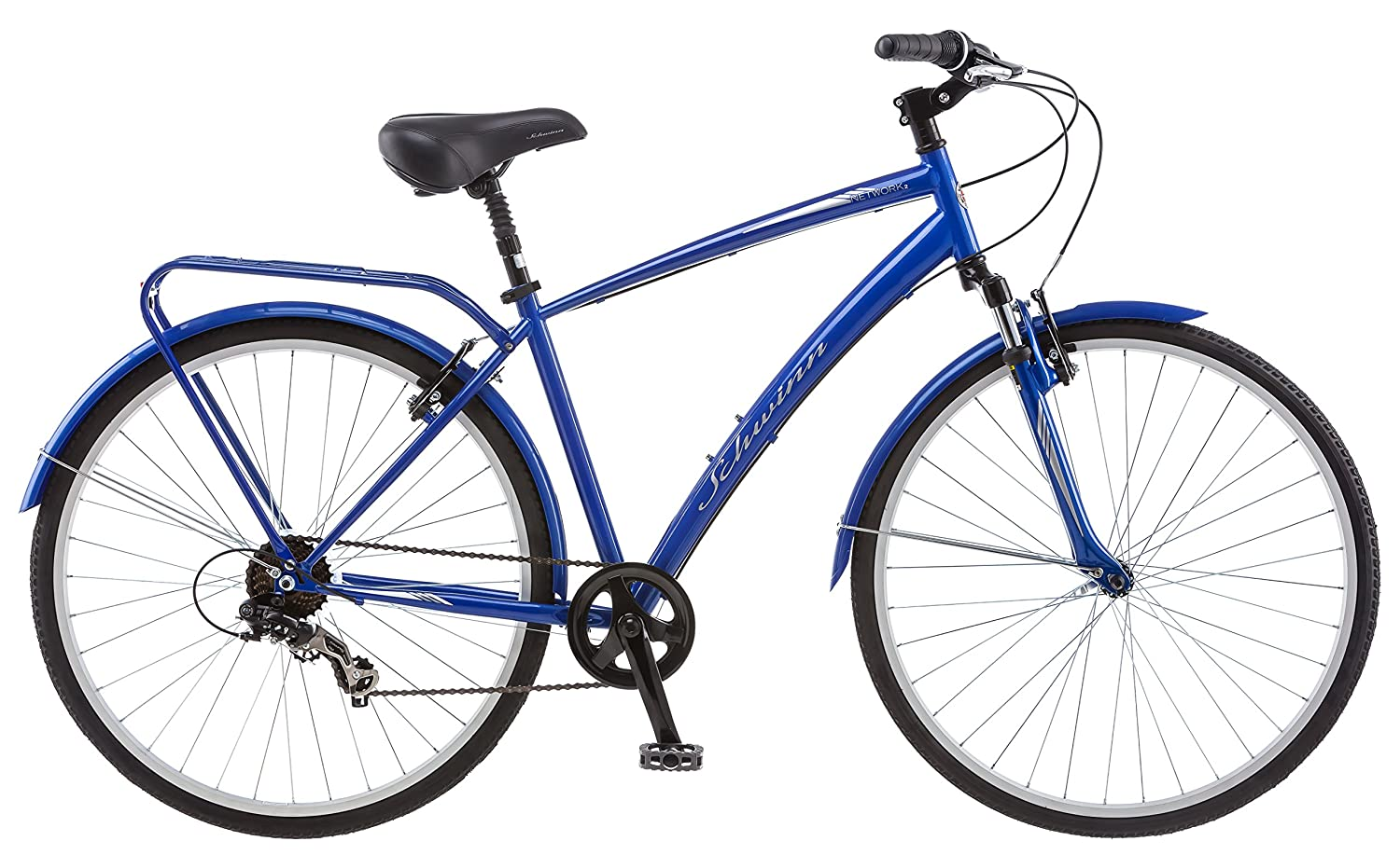 16-Inch//Small Schwinn Network 2.0 700c Womens 16 Hybrid Bike Blue