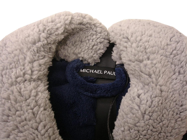 Bata de lujo de Michael Paul para hombre de suave forro polar