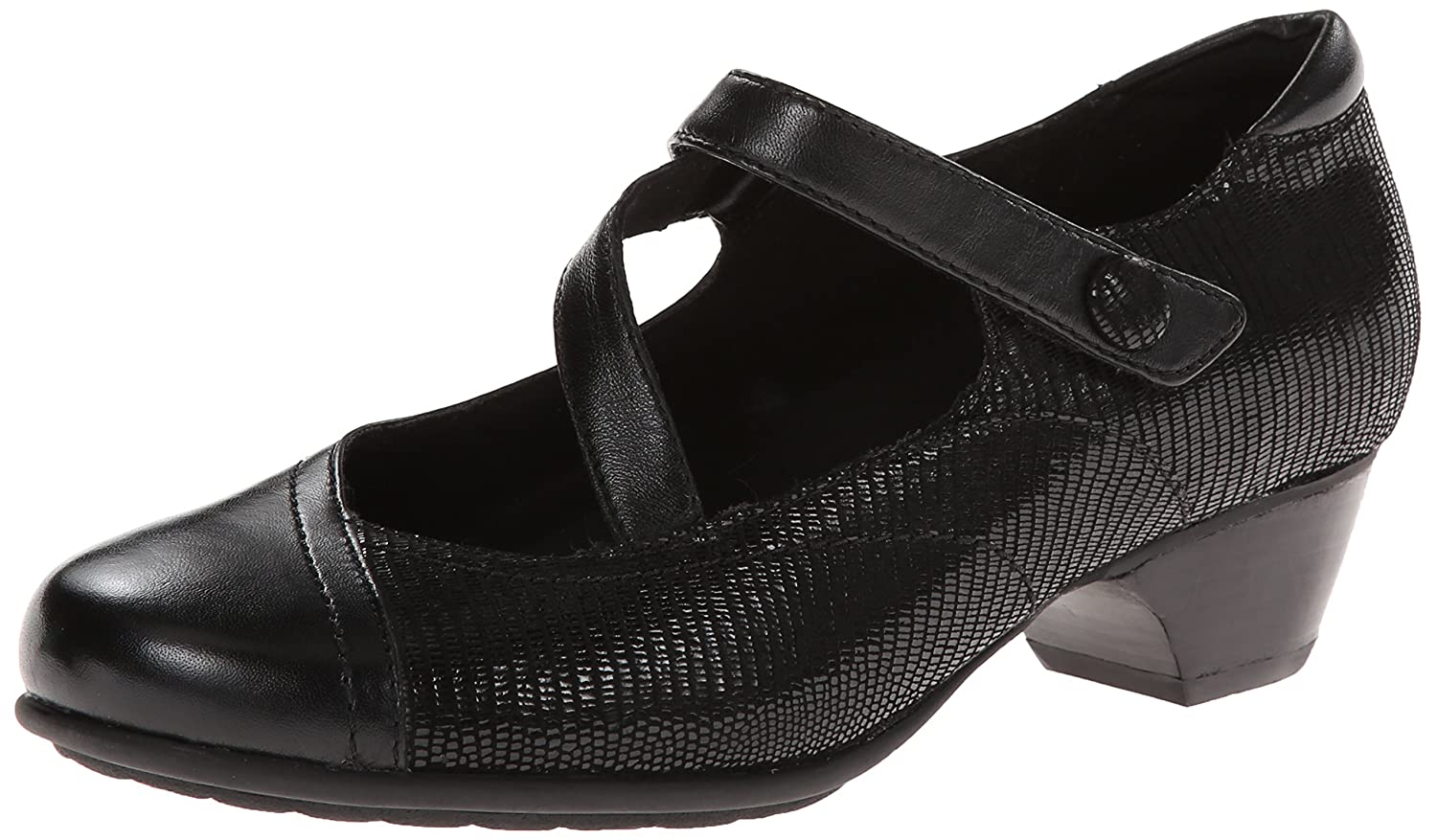Aravon Women's Portia - AR Dress Pump B00IFPOZMQ 7 2E US|Black Multi