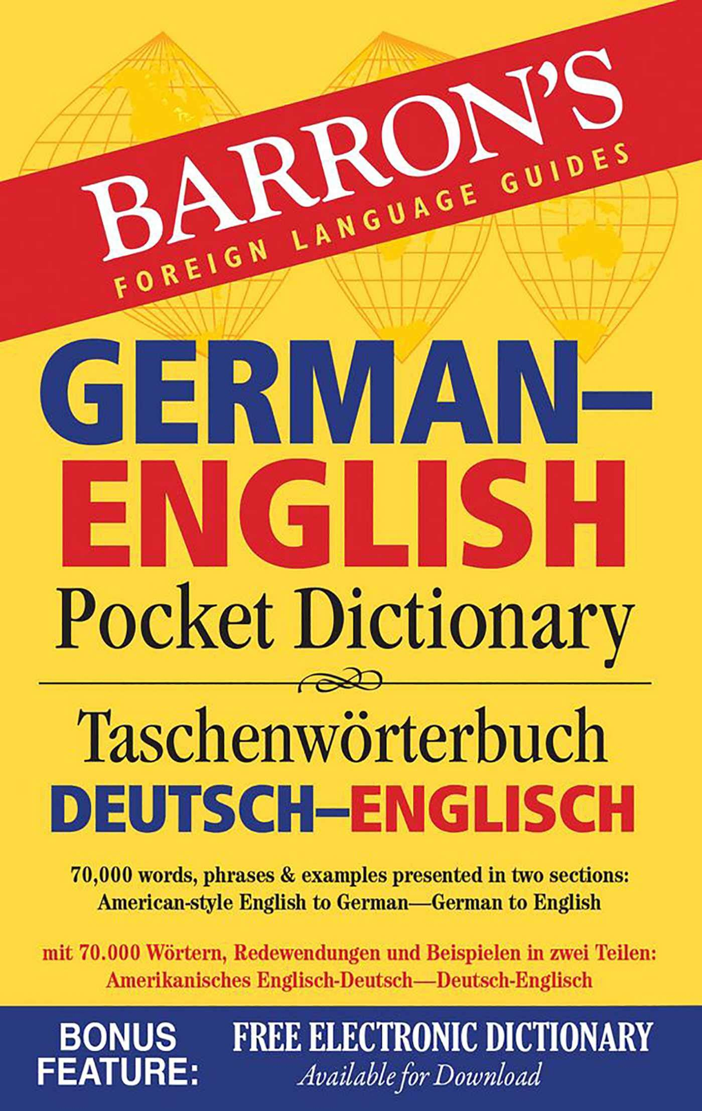 German English Pocket Dictionary 20,20 words, phrases & examples ...