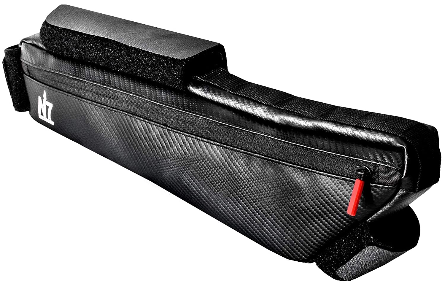 Northseven 3L Carbon XL Frame Bag – 100 Waterproof Lightweight for Bikepacking Adjustable Non-Scratch Velcro Design for MTB and Road Cycling