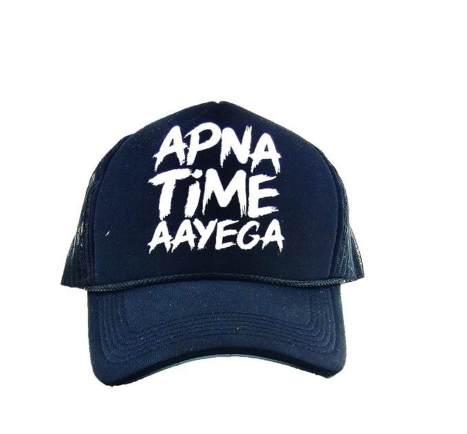 x-Lent APNA TIME AAYEGA Men s Stylish Mesh Plain Snapback Baseball CAPS for  Men Stylish 05e2161c2b39