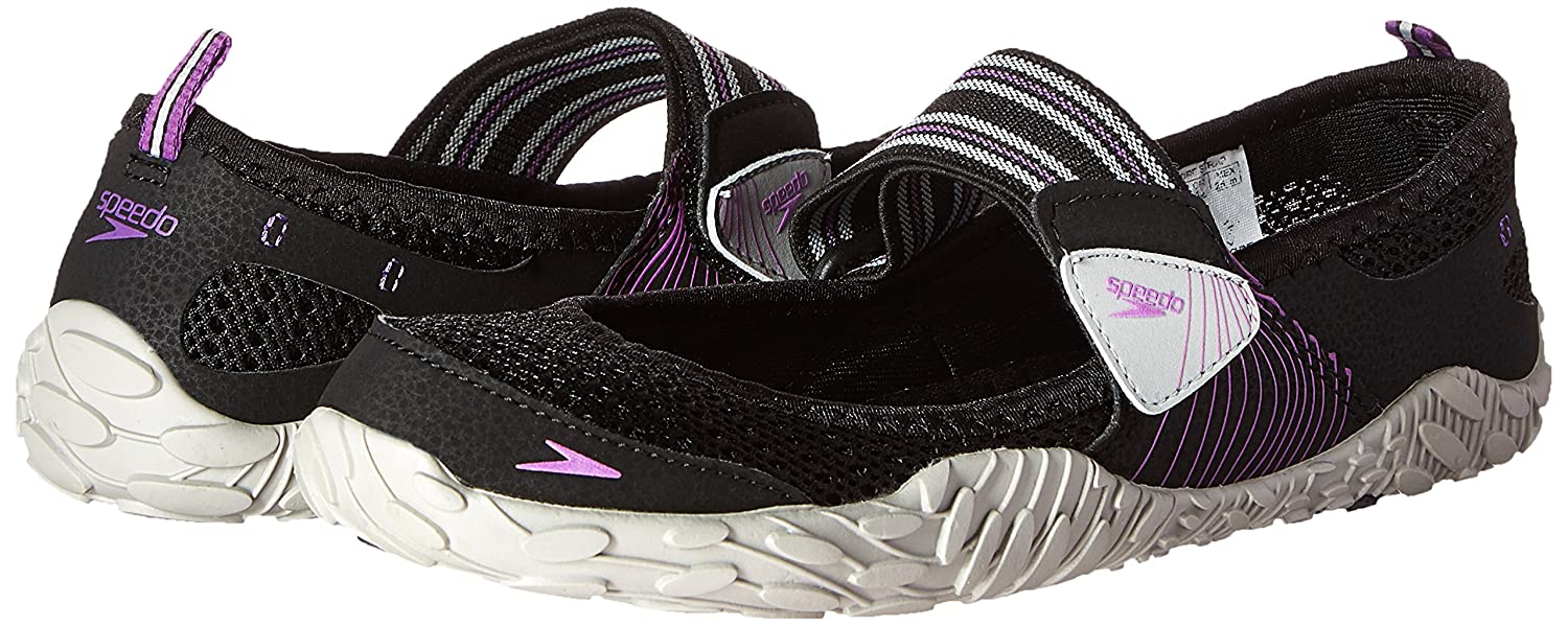 Speedo Women's Offshore Amphibious Water Shoe B011PMETZS 11 B(M) US|Black/Purple