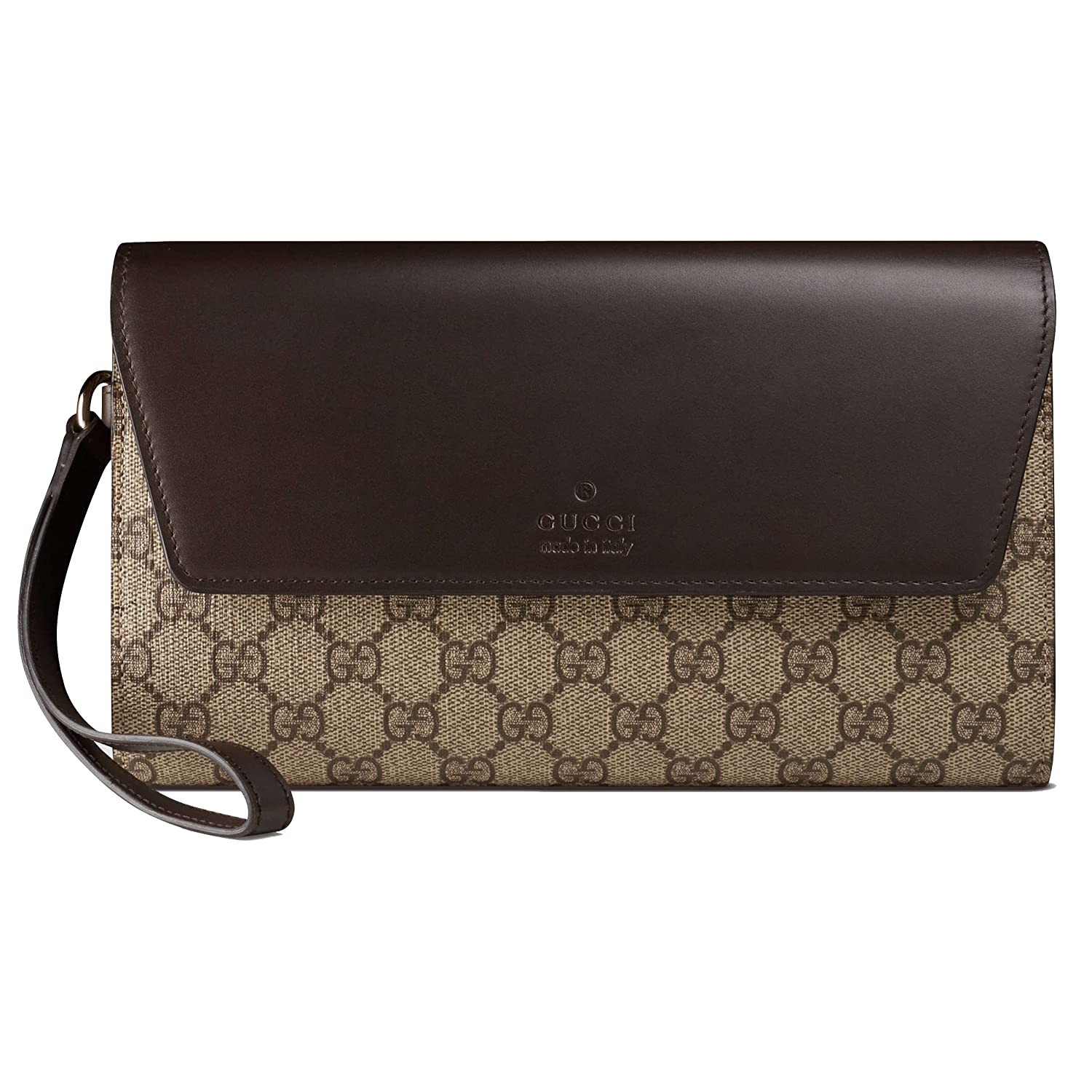 827ec6b3dd71c3 Gucci GG Supreme Canvas Beige/Brown Leather Travel Document Case Wallet  386852 9643: Amazon.ca: Clothing & Accessories