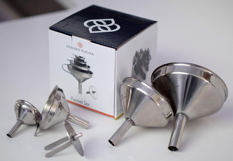 4 Pc. Stainless Steel Funnel Set Denizen Cucina DCFS4