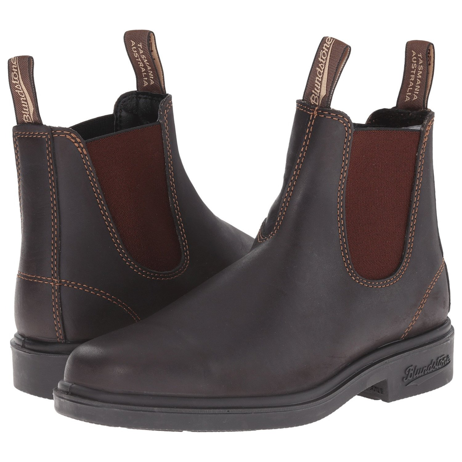 Blundstone Unisex Dress Series, Stout Brown, 10.5 M US Men's /12.5 M US Women's -9.5 AU