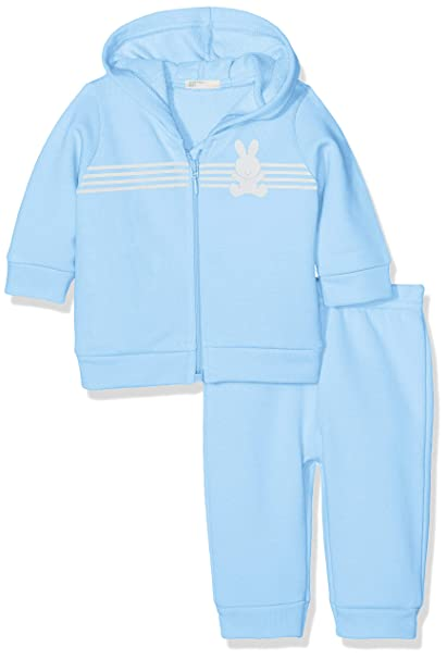 United Colors of Benetton Bebé-Niños Set Jacket+Trousers Abrigo Not Applicable, Azul