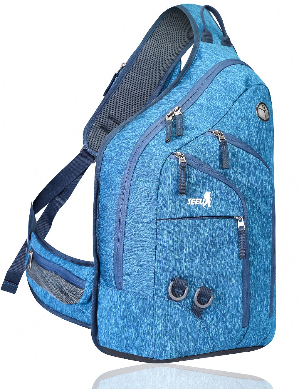 Plus Oversized Sling Backpack for Men, Double Layers One Strap Backpack rope Sling Bag 28L