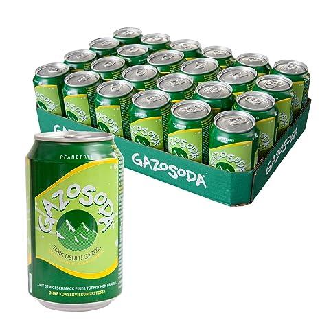 24 Dosen GAZOSODA Limonadenartiges Erfrischungsgetränk nach ...