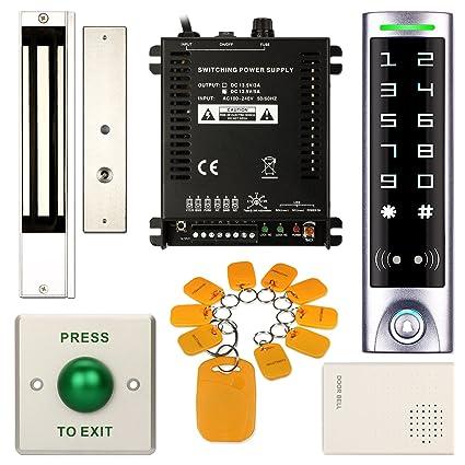 DIY Access Control Waterproof Keypad Office RFID Password System Kit