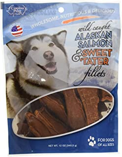 product image for Carolina Prime Pet 45106 Salmon And Sweet Tater Fillets Treat For Dogs ( 1 Pouch), One Size