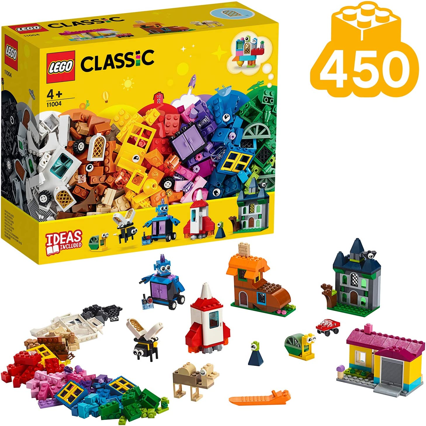 LEGO 11004 Classic Windows of Creativity Brickset, Fun Colourful Toy Bricks