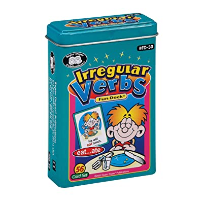 Super Duper Publications Irregular Verbs Fun Deck Flash Cards Educational Learning Resource for Children: Toys & Games