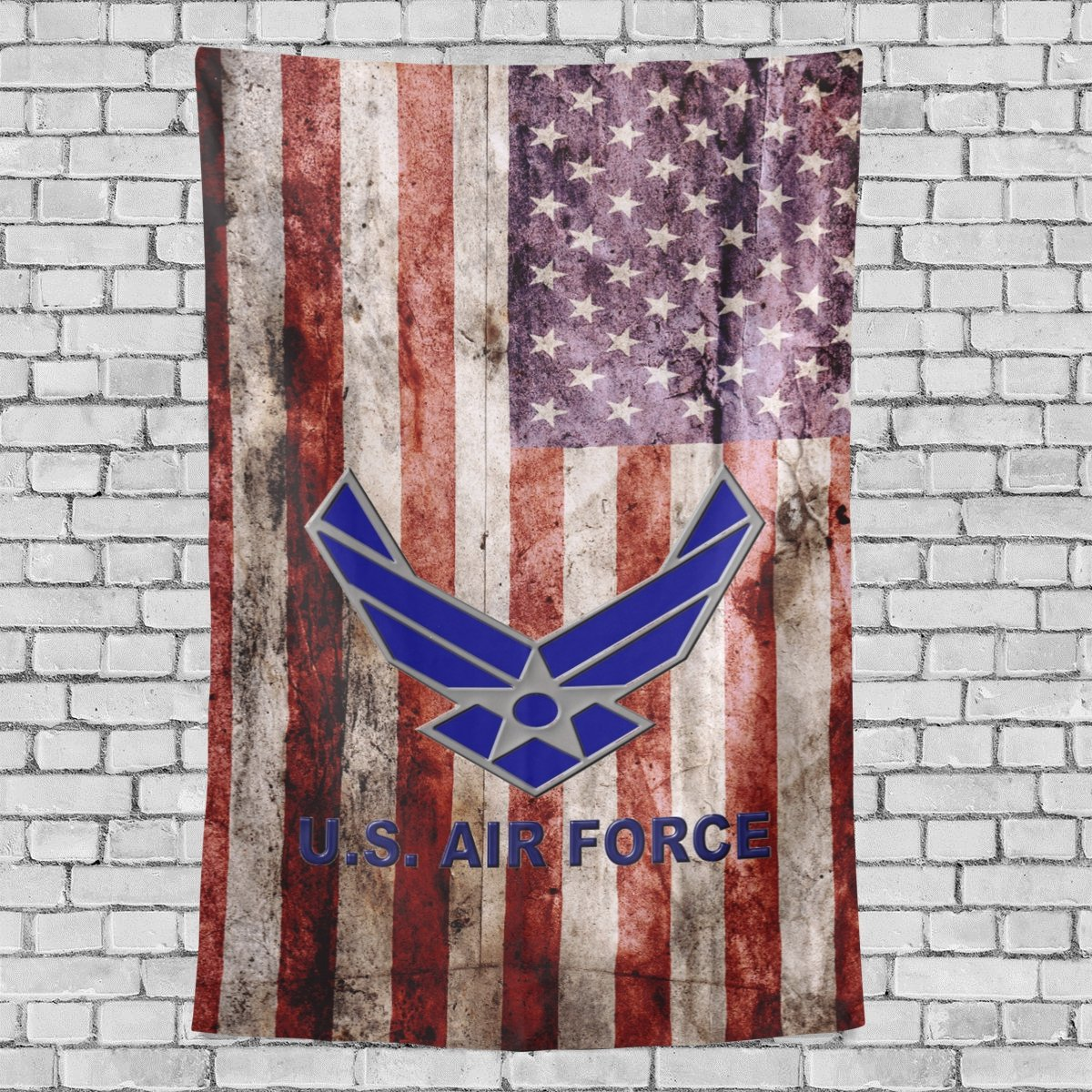 """Donnapink Wall Tapestry US Air Force Logo USAF 40""""X60"""" Wall Hanging Bedspread For Home Livingroom Dorm"""