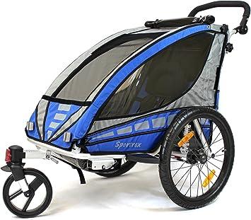 Qeridoo - Remolque para Bicicletas, Color Negro: Amazon.es ...