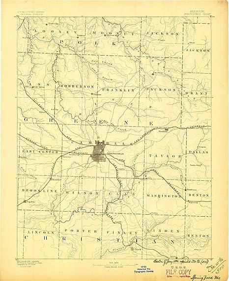 Amazon Com Yellowmaps Springfield Mo Topo Map 1 125000 Scale 30