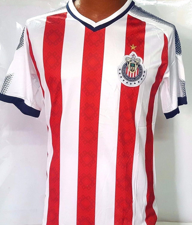 新しい。Chivas de Guadalajara Home Genericレプリカ大人用Jersey Liga MX。スモールサイズ。 B079JKTHK6