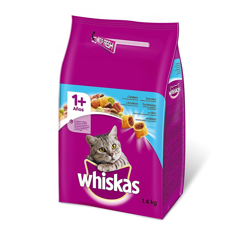 Pienso para gatos adultos con sabor atún de 1,4kg | [Pack de 6]