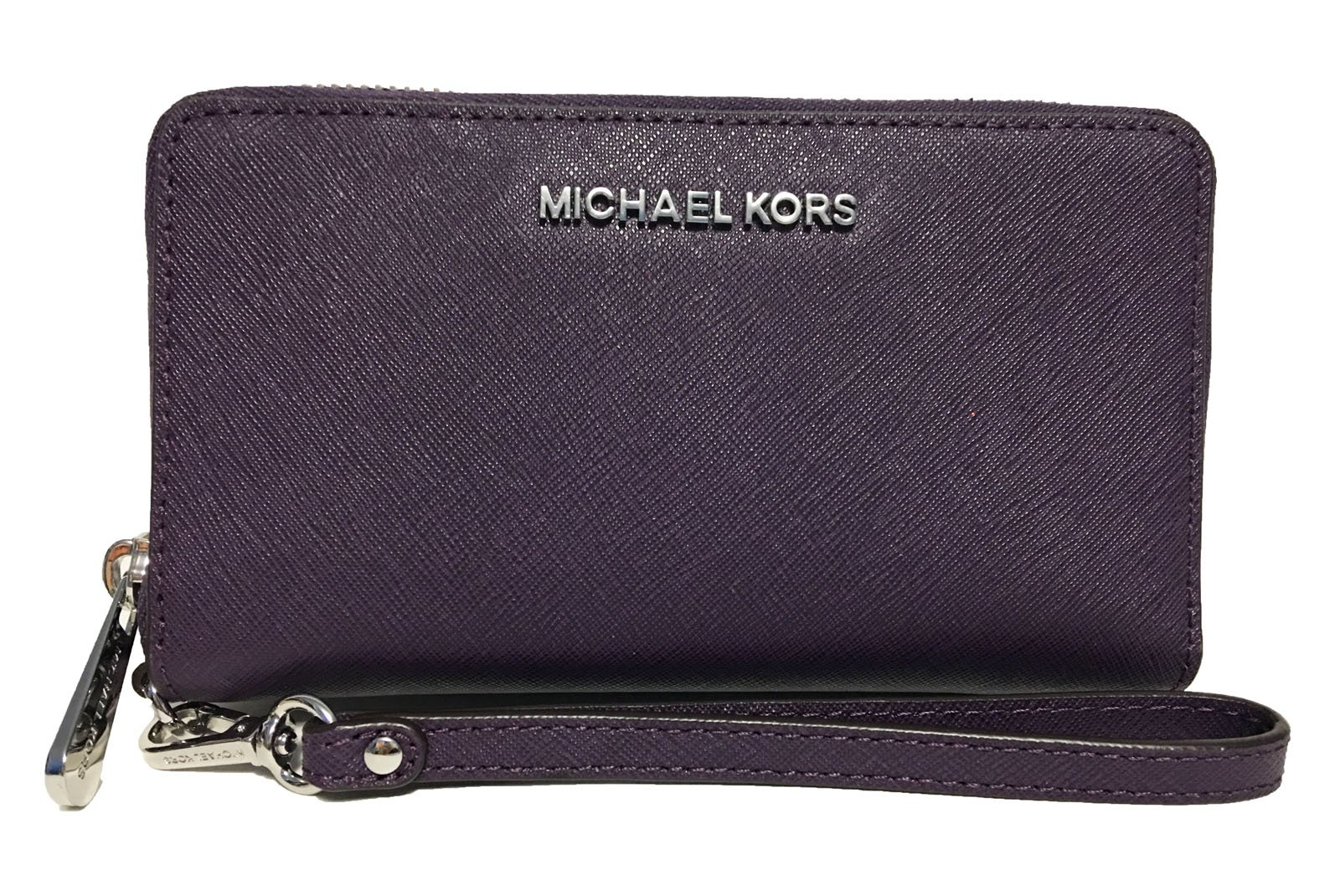 Michael Kors Giftables Jet Set Travel Flat Leather Phone Case (Grape Purple)