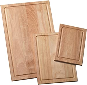 Farberware 3-Piece Wood Cutting Board Set with Drip Groove