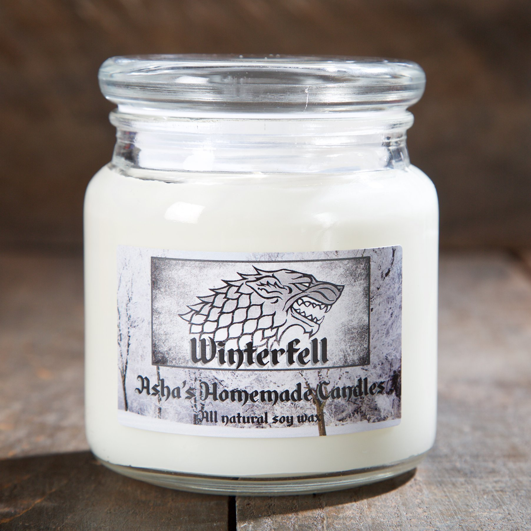 Game of Thrones Soy Candle - House Stark Winterfell - 16 oz. Apothecary Jar